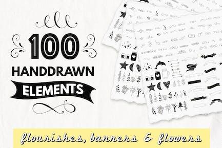 100 elementos decorativos