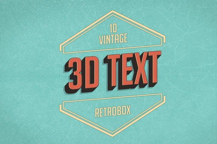 Thumbnail for Retro Vintage text effect