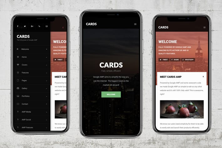Thumbnail for AMP Cards | Google AMP Mobile Template