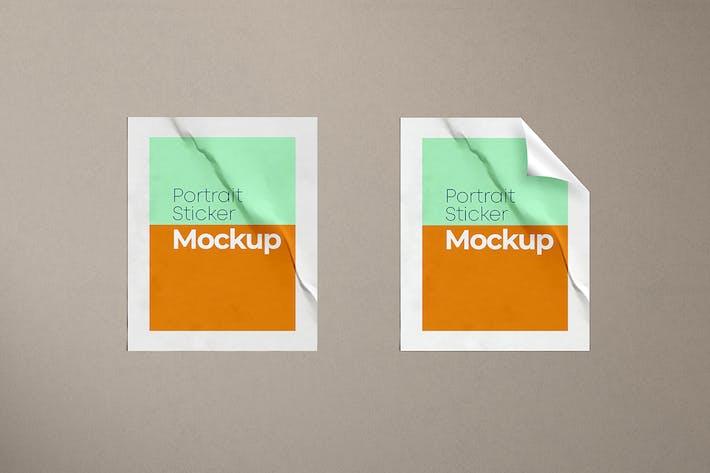Thumbnail for Portrait Sticker Mockup
