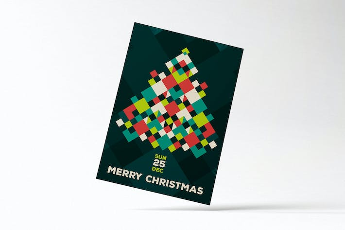 Thumbnail for Modern Merry Christmas Flyer Card