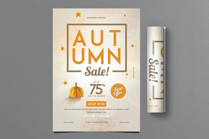 Cover Image For Autumn Sale Flyer