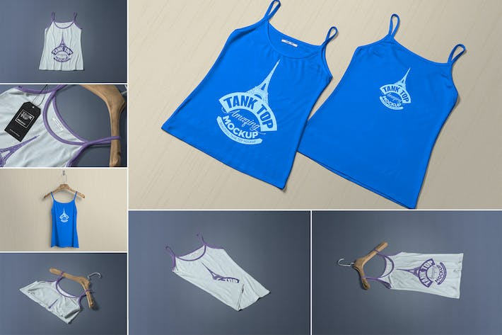 Thumbnail for Women's Tank Top Mockups
