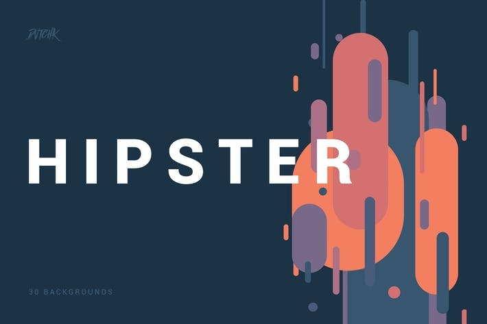 Thumbnail for Hipster |Rounded Stripes Backgrounds