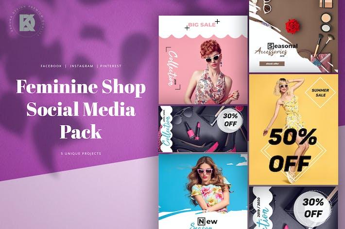 Thumbnail for Feminine Shop Social Media Pack