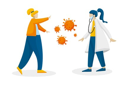Doctor Illustration Fight Covid