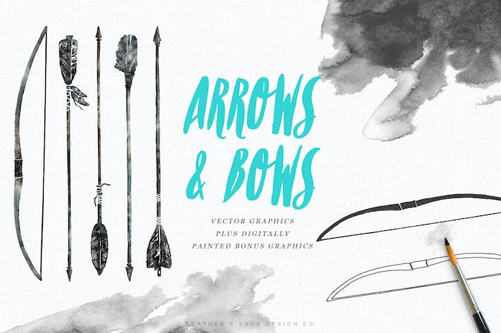 Thumbnail for Hand-Drawn Arrows & Bows