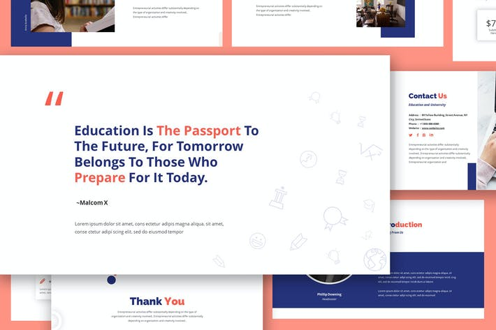 Cover Image For Academia Education Keynote Template