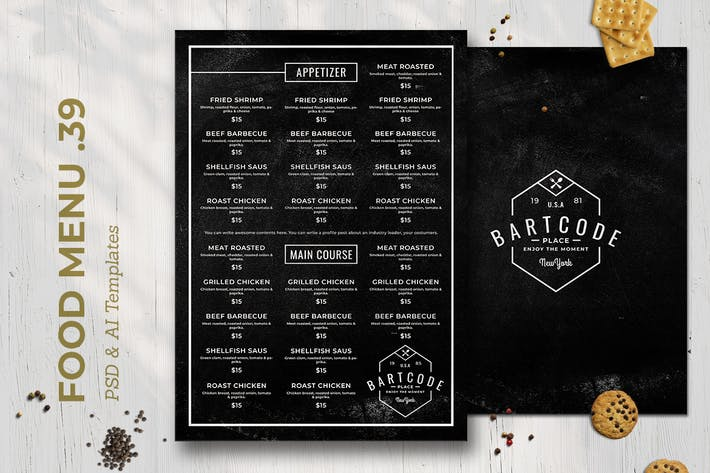 Thumbnail for Blackboard Food Menu. 39
