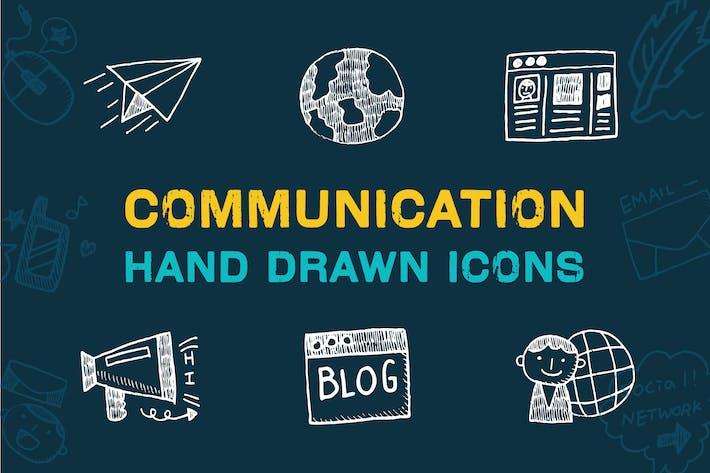 Thumbnail for Kommunikation Hand gezeichnete Icons