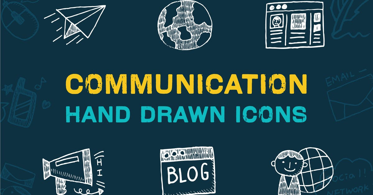Download Communication Hand Drawn Icons by iconsoul