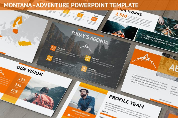 Thumbnail for Montana - Adventure Powerpoint Template