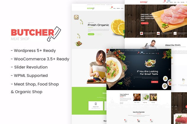 Butcher - Meat, Organic, Bakery WordPress Theme