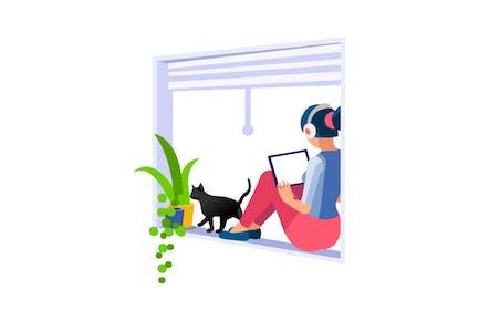 Arbeiten Sie zu Hause am Computer