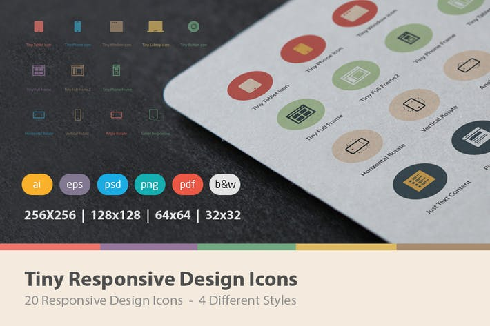 Thumbnail for Tiny Responsive Design Icons