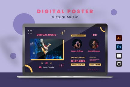 Virtual Concert Digital Poster