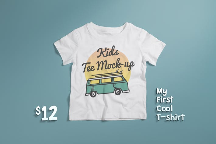 Cover Image For Crew Neck T-shirt Mock-up Kids Version