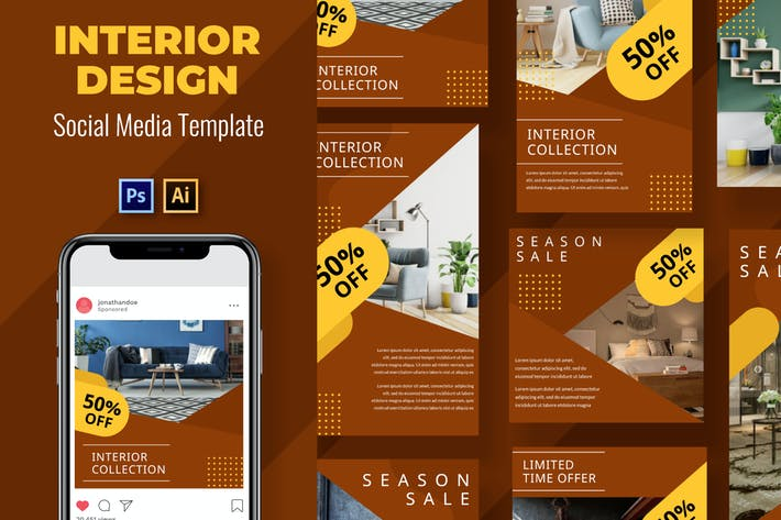 Thumbnail for Interior Social Media Template
