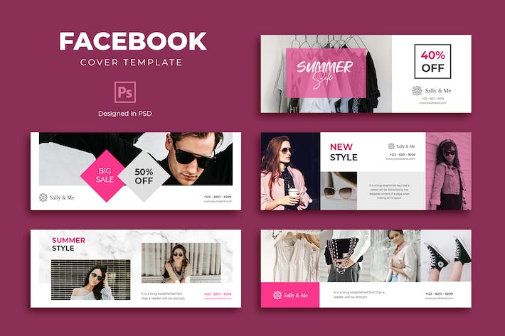 Thumbnail for Fashion Facebook Cover Template