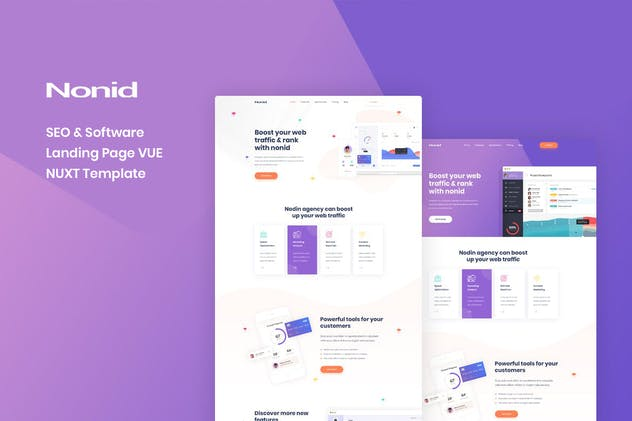 Nonid - Vue Nuxt SEO and Software Landing Page