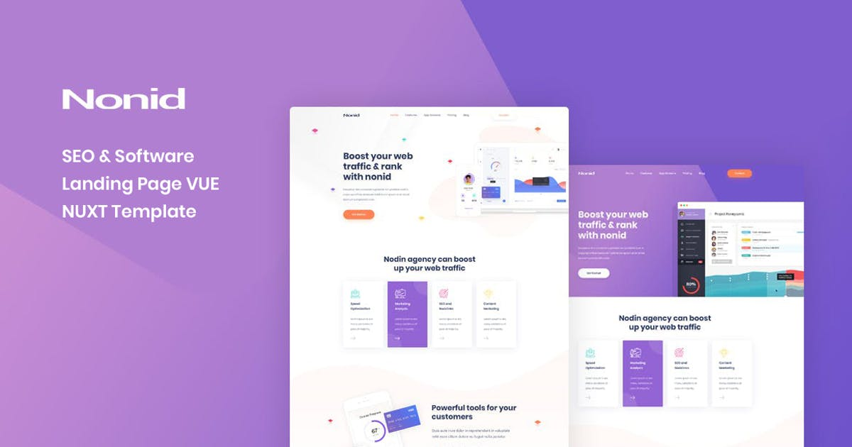Download Nonid - Vue Nuxt SEO and Software Landing Page by Layerdrops