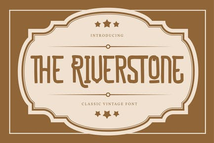 The Riverstone   Classic Vintage Font