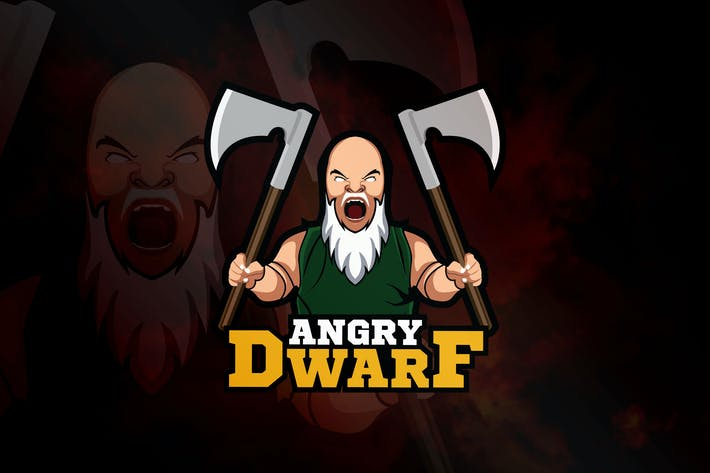 Thumbnail for Angry Dwarf - Mascot & eSport Logo RB