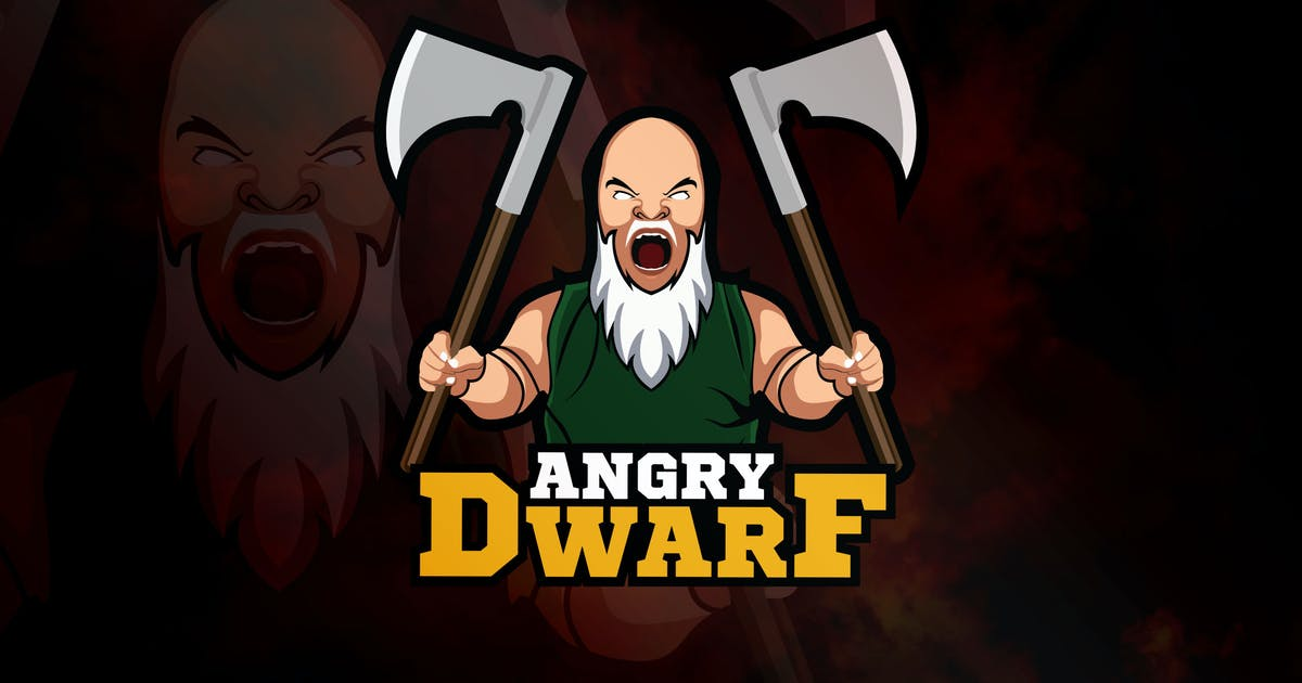 Download Angry Dwarf - Mascot & eSport Logo RB by Rometheme