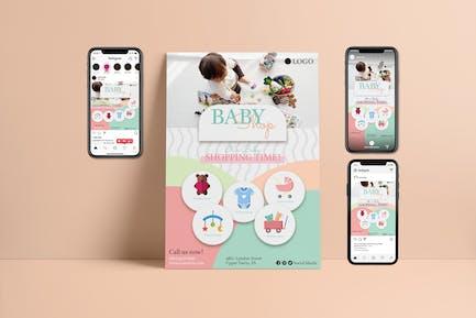 Baby Shop - Flyer & Instagram Template