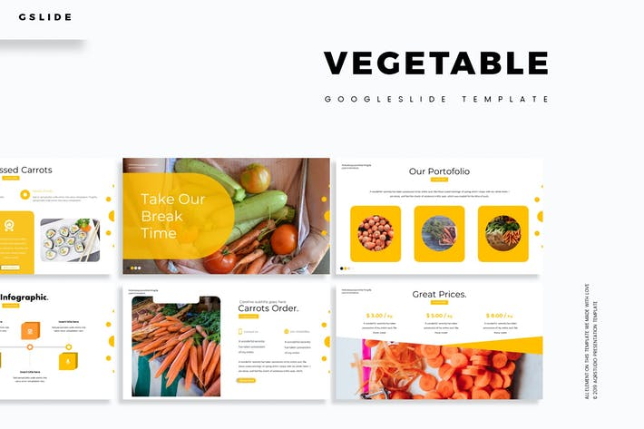 Thumbnail for Vegetable - Google Slides Template