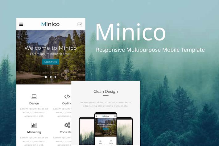 Thumbnail for Minico – Responsive Multipurpose Mobile Template