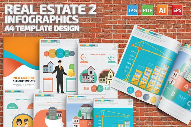 Real estate 2 infographic Design - product preview 7