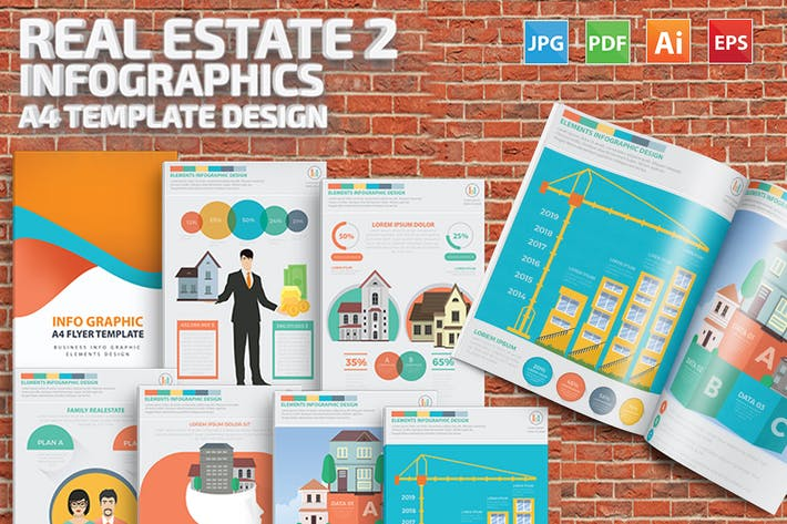 Thumbnail for Real estate 2 infographic Design