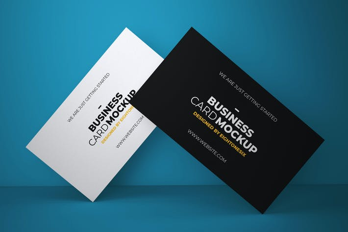 Cover Image For Business Card Mock-Up Template