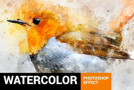 Perfectum 2 - Watercolor Artist Photoshop Action