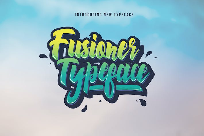 Thumbnail for Fusioner Typeface