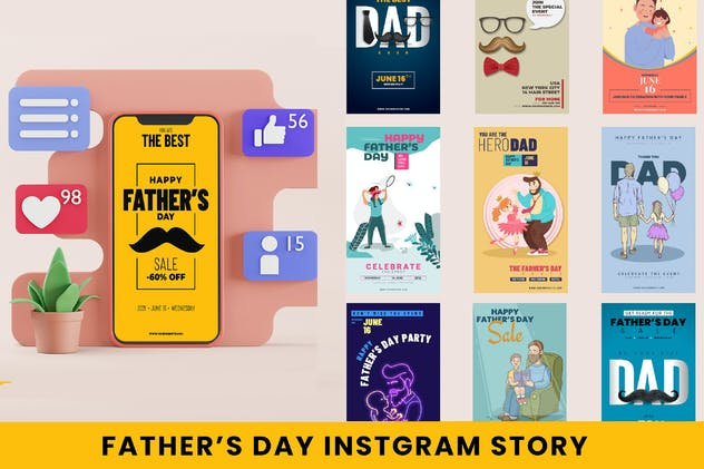Father's Day Instagram Stories