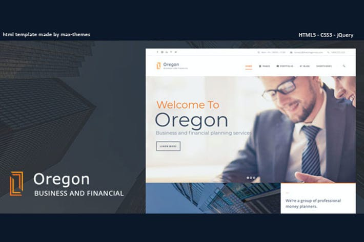 Thumbnail for Oregon - Finance HTML Template