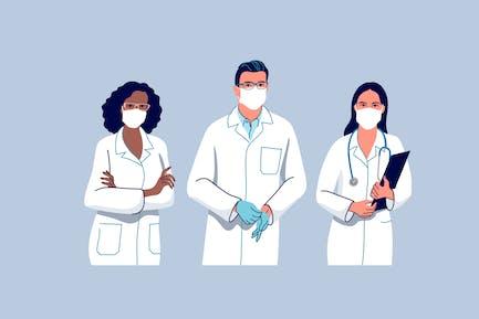 Arzt und Krankenschwestern