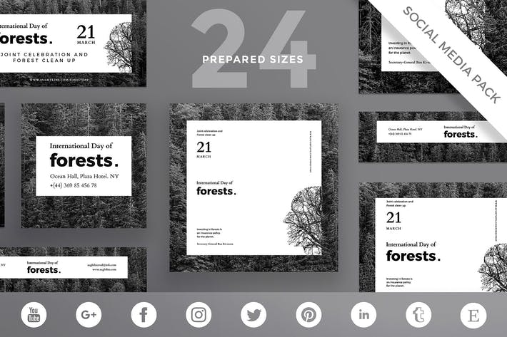 Forests Day Social Media Pack Template