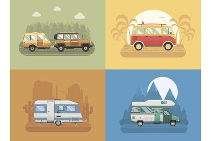 RV Retro Campers Travel Collection
