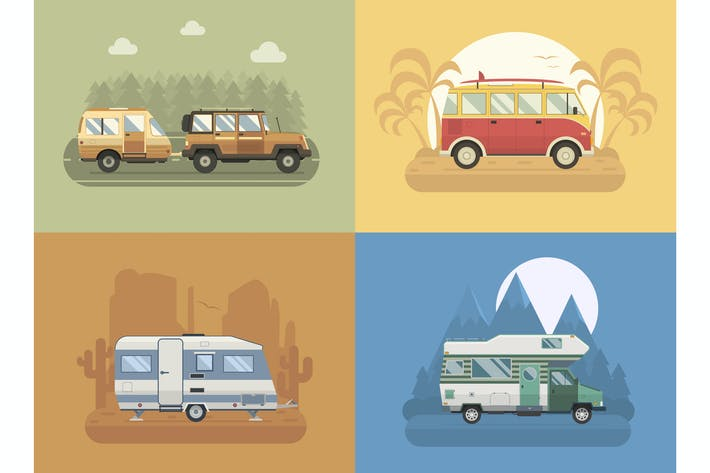 Thumbnail for RV Retro Campers Travel Collection