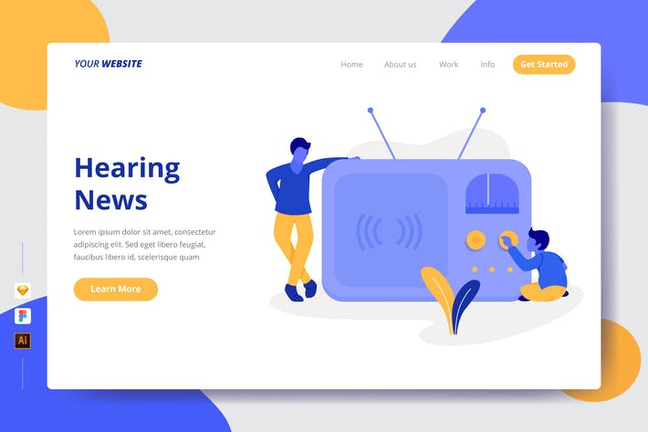 Thumbnail for Hearing News - Landing Page