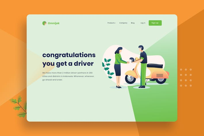 Thumbnail for Get a online taxi driver Vector Template