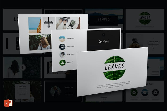 Thumbnail for Leaves PowerPoint Template