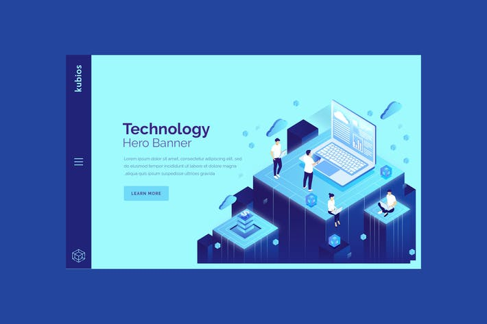 Thumbnail for Kubios - Technology Hero Banner Template
