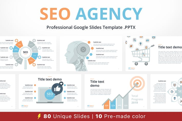Thumbnail for SEO Agency Google Slides