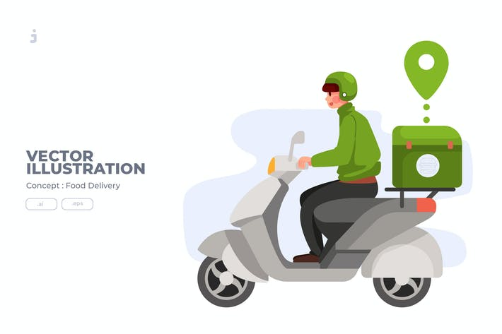 Thumbnail for Food Delivery - Vector Illustration