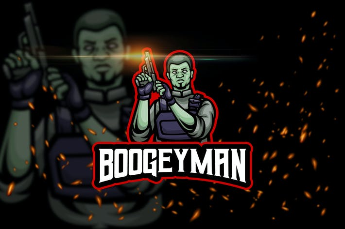 Thumbnail for The Boogeyman - Shooter eSport Logo Template
