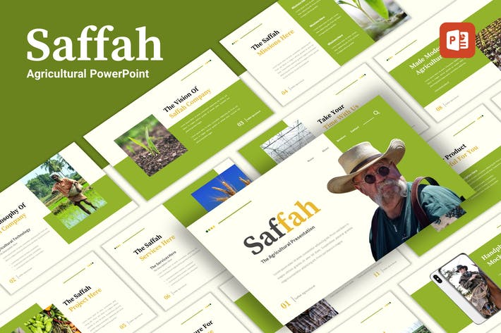Thumbnail for Saffah - Agricultural PowerPoint Template